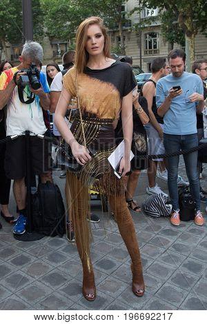 PARIS, FRANCE - JULY 04: Alexina Graham  attends Vogue Foundation Dinner  as part of Paris Fashion Week  Haute Couture Fall/Winter 2017-2018 July 4, 2017  Paris, France