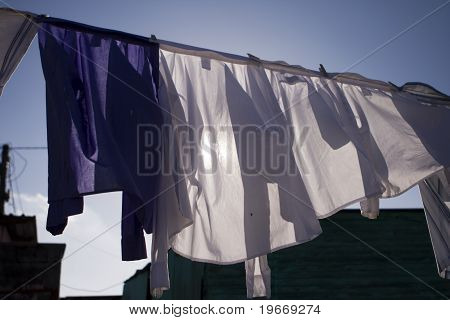 Drying Laundry In Sun