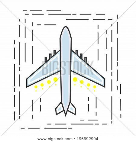 Icon aircraft. Symbol airline or travel company. Vector