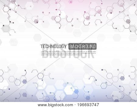 Abstract digital technology concept. High tech computer innovation on the gray background. Vector illustration eps10