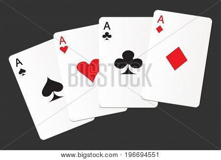 Aces suit cards hearts clubs spades diamonds icon
