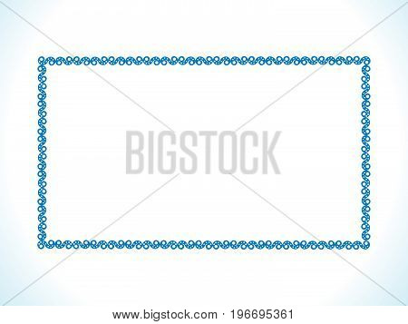abstract artistic blue floral border vector illustration