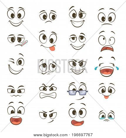 Facial expressions caricatures important