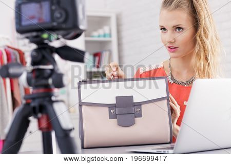 Girl Is Trying To Sell Bag
