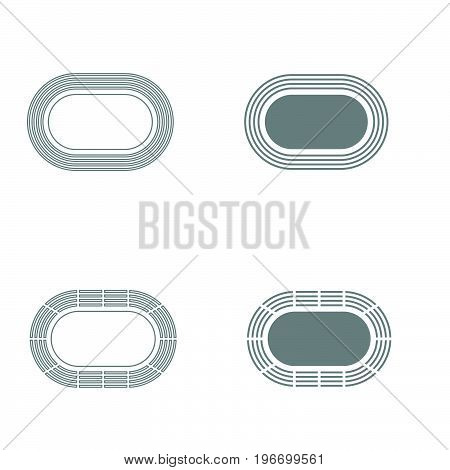 Stadium Grey Color Set Icon .