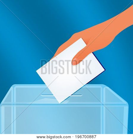 The ballot box, vector art illustration elections.