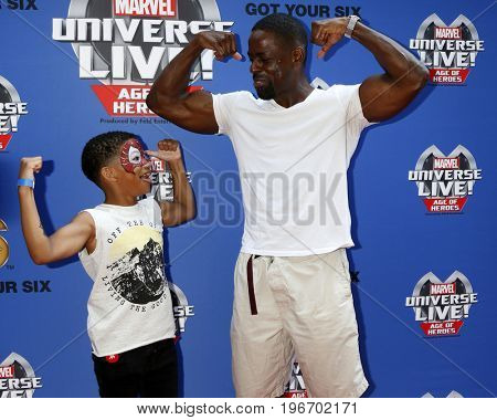 LOS ANGELES - JUL 8:  Lonnie Chavis, Sterling K Brown_ at the Marvel Universe Live Red Carpet at the Staples Center on July 8, 2017 in Los Angeles, CA