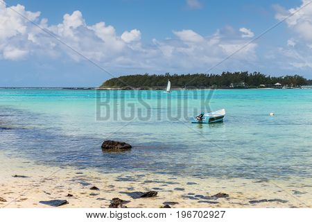 View of the Blue Bay Marine Park Mauritius Mahebourg Indian Ocean