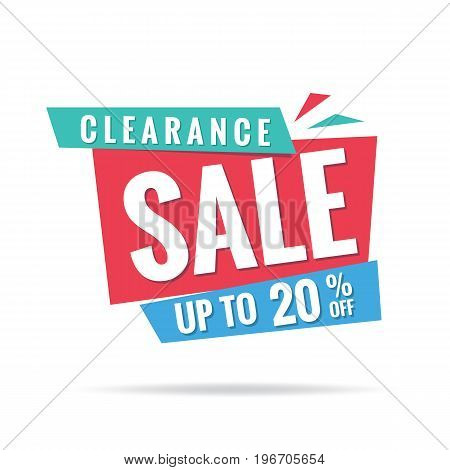 Vol. 3 Clearance Sale Blue Green Red 20 Percent Heading Design For Banner Or Poster. Sale And Discou