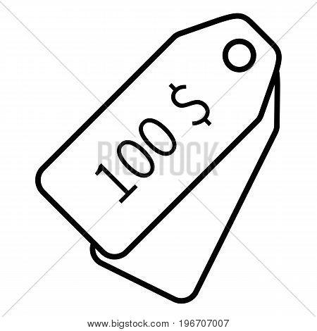Vector Single Icon - Price Tag
