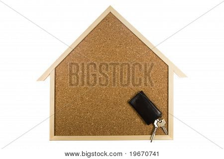 Home Interior Cork Bulletin Board