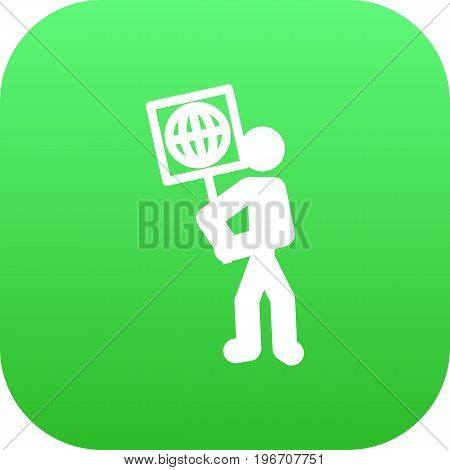 Vector Volunteer  Element In Trendy Style.  Isolated Ecologist Icon Symbol On Clean Background.