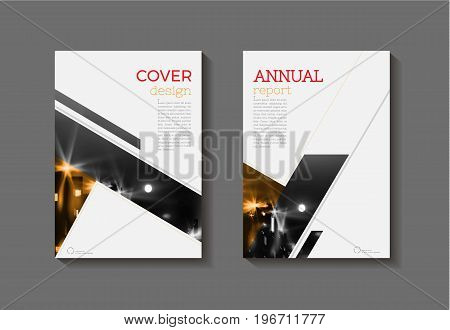 abstract modern cover book Brochure template design annual report magazine and flyer layout Vector a4