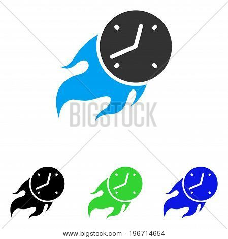 Deadline Fire vector icon. Illustration style is a flat iconic colored symbol with different color versions.