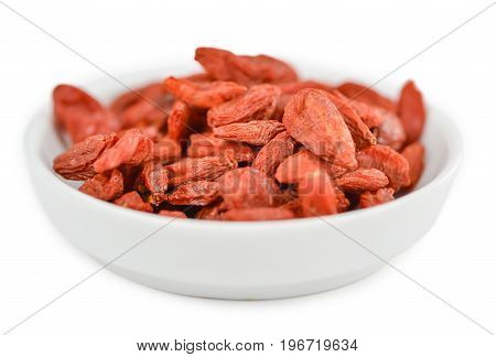 Portion Of Goji Berries Isolated On White