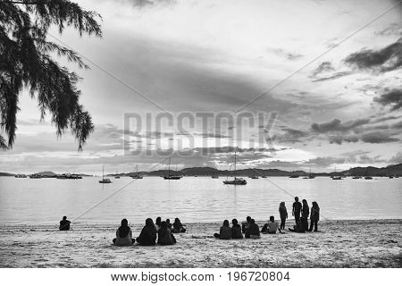 LANGKAWI ISLAND, JANUARY 17, 2017 - Langkawi resort, wellknown landmark in Malaysia, Asia