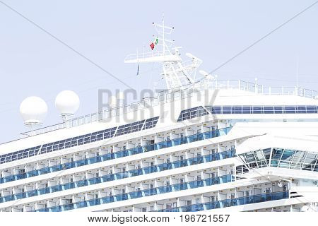 The Luxury Cruise Ship close up image