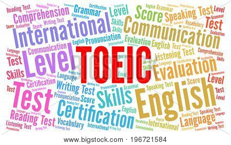 TOEIC, Test of English for International Communication word cloud