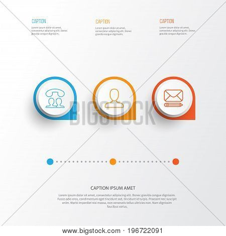 Communication Icons Set. Collection Of Call, Web Profile, Edit And Other Elements