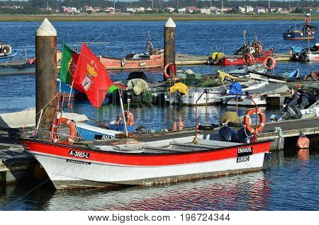 Fishing Boat In Costa Nova, Portugal