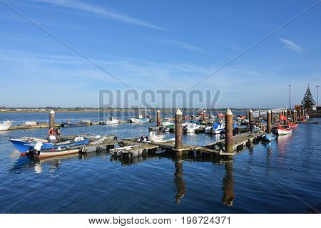 Fishing Boats In Costa Nova, Portugal