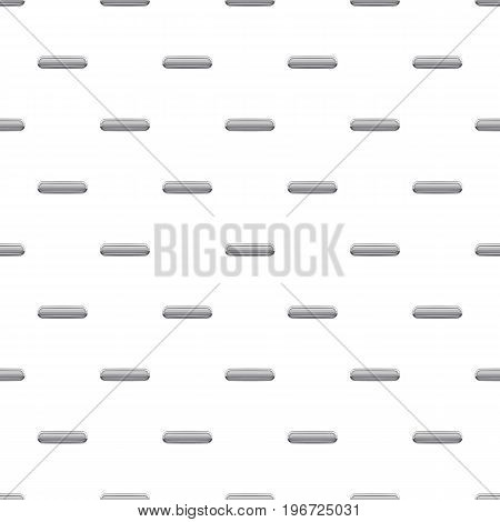 Gray rectangular button pattern seamless repeat in cartoon style vector illustration