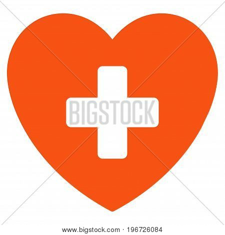 Cardiology vector pictogram. Style is flat graphic symbol.