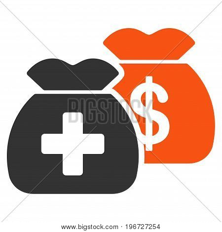 Health Care Funds vector icon. Style is flat graphic symbol.
