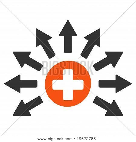 Medical Distribution vector icon. Style is flat graphic symbol.