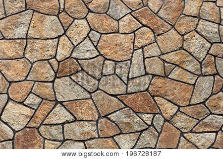 Modern stone masonry. Background texture.