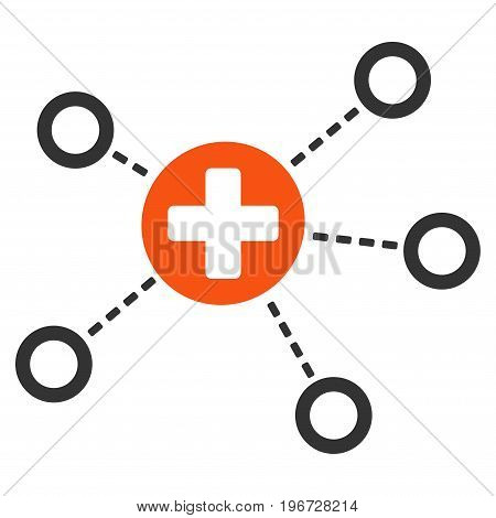 Medical Links vector pictograph. Style is flat graphic symbol.