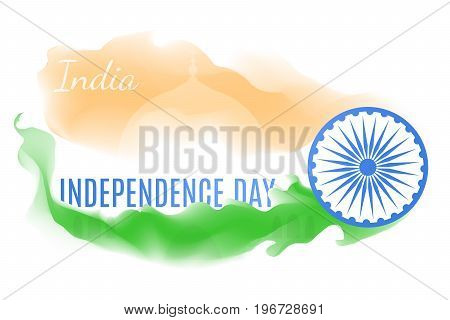 Indian independence day greeting vector card illustration