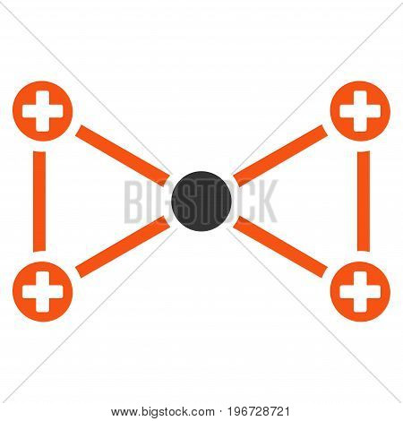 Medical Nodes vector pictograph. Style is flat graphic symbol.