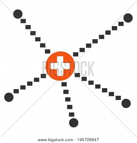 Medical Relations vector pictogram. Style is flat graphic symbol.