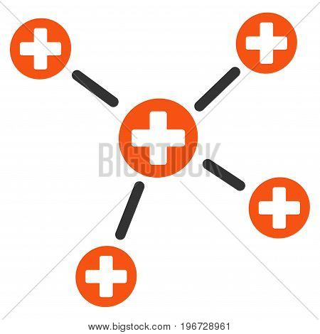 Medicine Links vector pictograph. Style is flat graphic symbol.
