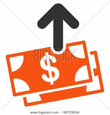 Spend Money vector icon. Style is flat graphic symbol.