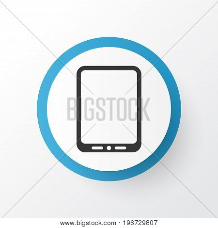 Premium Quality Isolated Cellphone Element In Trendy Style.  Tablet Phone Icon Symbol.
