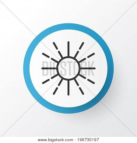 Premium Quality Isolated Lightness Mode Element In Trendy Style.  Brightness Regulation Icon Symbol.