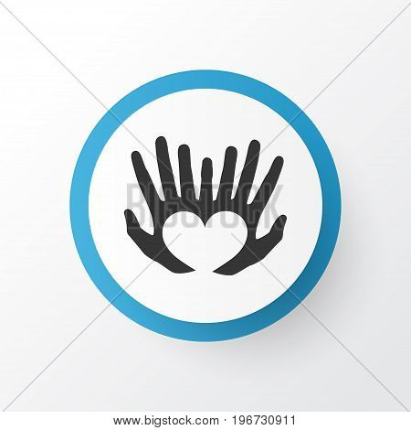 Premium Quality Isolated Palms Element In Trendy Style.  Hands Icon Symbol.