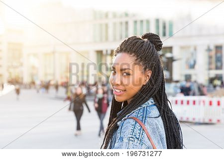 Black Girl Portrait In Berlin