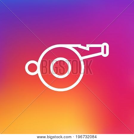 Vector Whistle Element In Trendy Style.  Isolated Blower Outline Symbol On Clean Background.