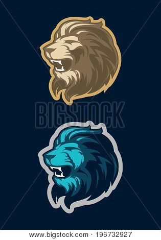 Lion head sport mascot. Great for sports logo & team mascots.