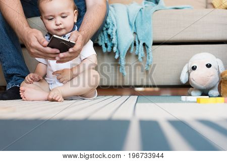 Baby Playing With Smatphone