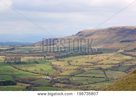 Hills of the Brecon Beacons in Wales