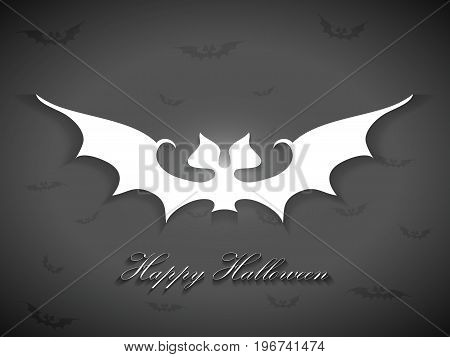 Halloween Bats Greetings Card