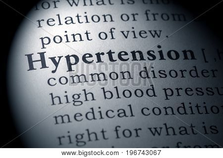 Fake Dictionary Dictionary definition of the word hypertension.