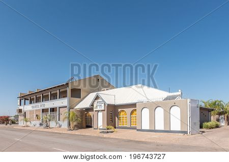 MARIENTAL NAMIBIA - JUNE 14 2017: An hotel in Mariental the capital town of the Hardap Region in Namibia