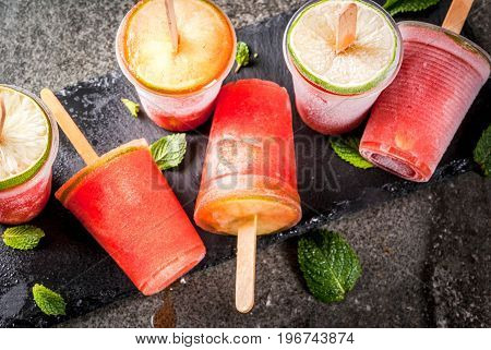 Homemade Cocktail Popsicles