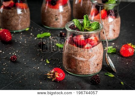 Chocolate Pudding With Chia Seeds