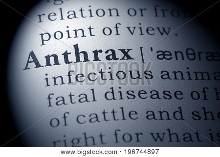 Fake Dictionary Dictionary definition of the word anthrax.